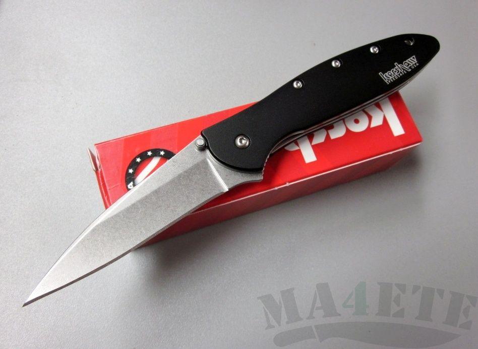 картинка Складной полуавтоматический нож Kershaw Leek Stonewash 1660SWBLK от магазина ma4ete