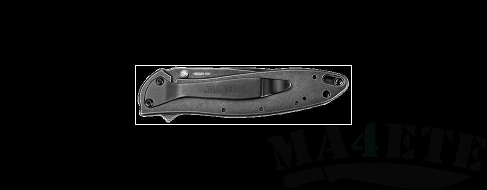 картинка Складной полуавтоматический нож Kershaw Leek BlackWash K1660BLKW от магазина ma4ete