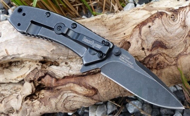 картинка Складной полуавтоматический нож Kershaw Cryo BlackWash K1555BW от магазина ma4ete