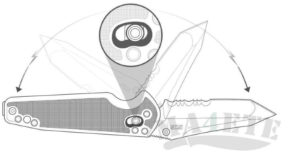 картинка Складной нож SOG Targa Tanto Black TG1002 от магазина ma4ete