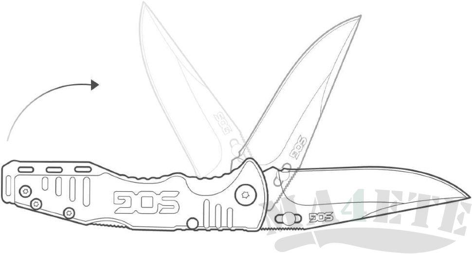 картинка Складной полуавтоматический нож SOG Trident TF2 от магазина ma4ete