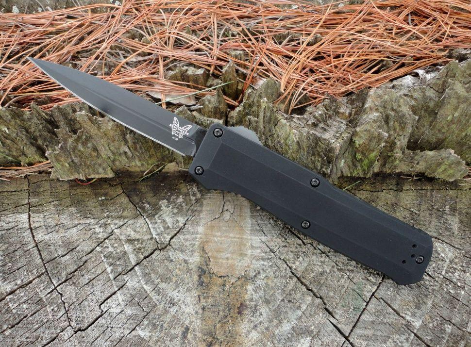 картинка Автоматический выкидной нож Benchmade Precipice 4700DLC от магазина ma4ete