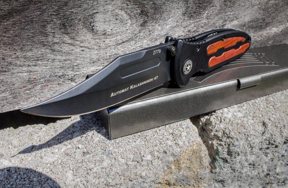 картинка Складной нож Boker Kalashnikov All Black 11KAL47AB от магазина ma4ete