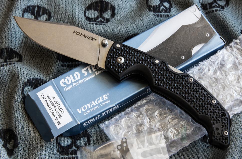 картинка Складной нож Cold Steel Voyager Large Clip CTS BD1 29TLCC от магазина ma4ete