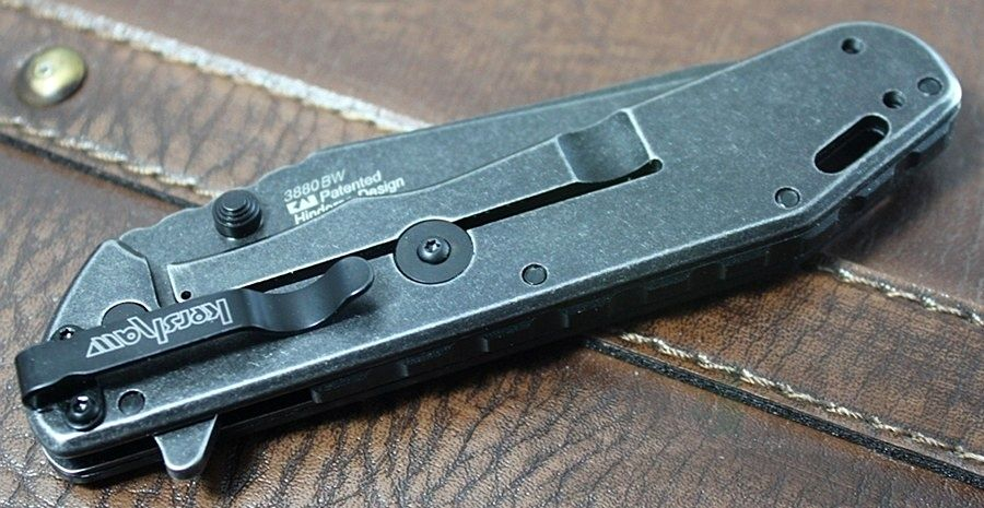 картинка Складной полуавтоматический нож Kershaw Thermite BlackWash K3880BW от магазина ma4ete