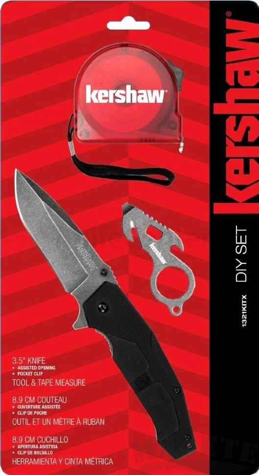 картинка Складной полуавтоматический нож + мультитул и рулетка Kershaw D.I.Y. Set 1321KITX от магазина ma4ete