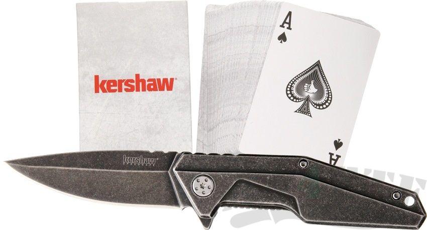 картинка Складной полуавтоматический нож и игральные карты Kershaw Starter Series 1318KITX от магазина ma4ete