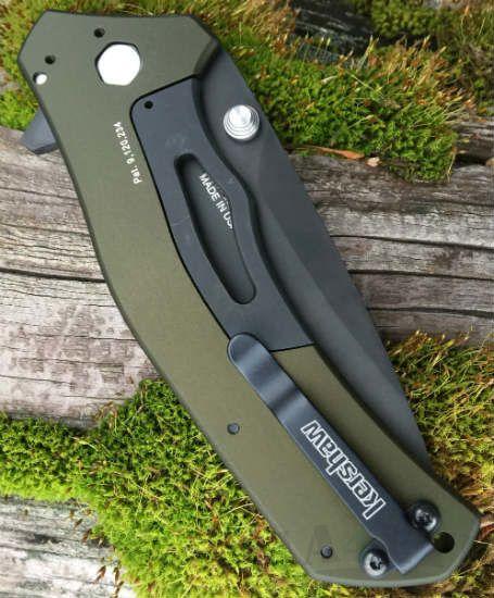 картинка Складной полуавтоматический нож Kershaw Knockout 1870OLBLK от магазина ma4ete