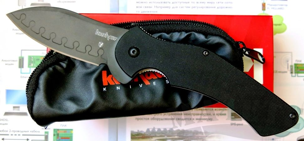 картинка Складной нож Kershaw Junkyard Dog II K1725CBBLK от магазина ma4ete