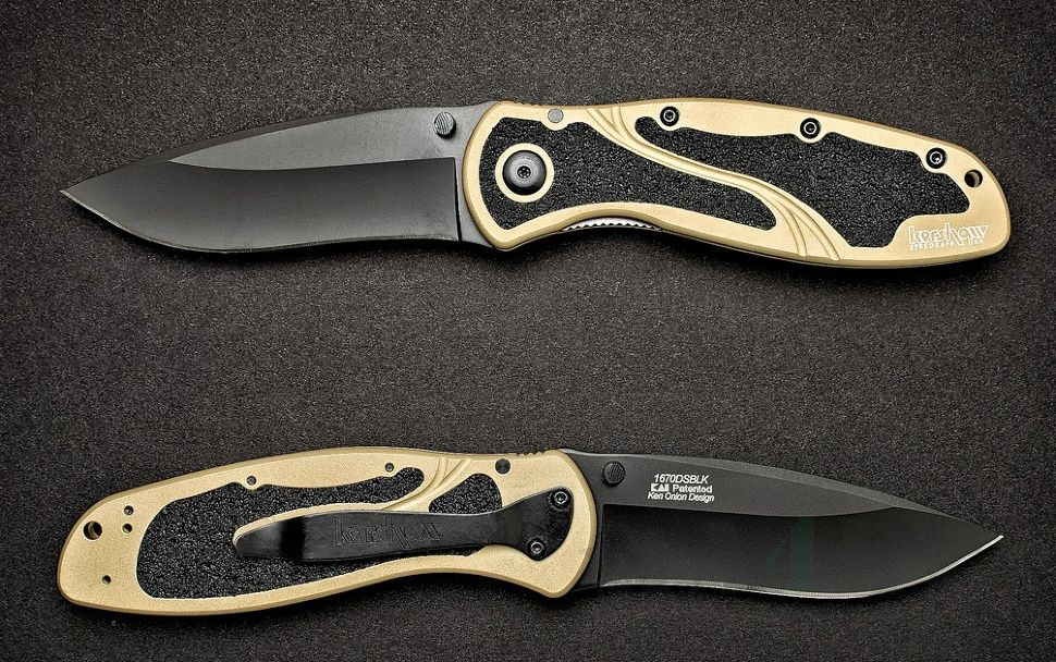 картинка Складной полуавтоматический нож Kershaw Blur 1670DSBLK от магазина ma4ete