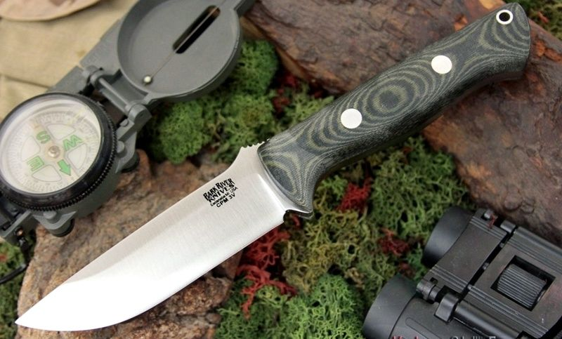 картинка Нож Bark River Bravo1 3VR Black&Green Linen Matte от магазина ma4ete