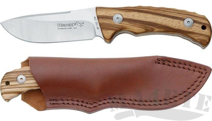 картинка Нож Fox BlackFox Outdoor Zebra Wood BF-132ZW от магазина ma4ete