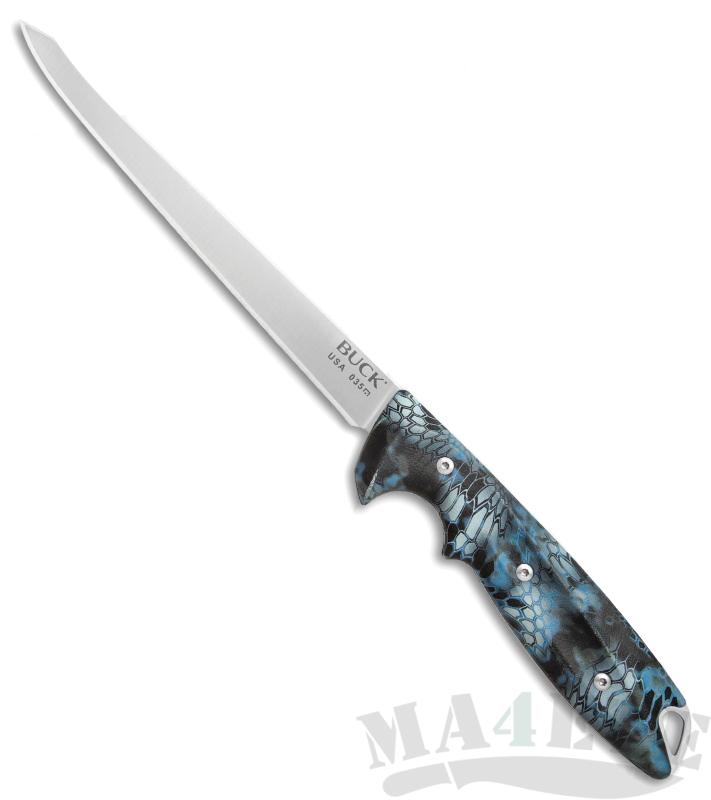 картинка Филейный нож Buck 035 Abyss Fillet Knife Kryptek Neptune Camo 0035CMS34 от магазина ma4ete