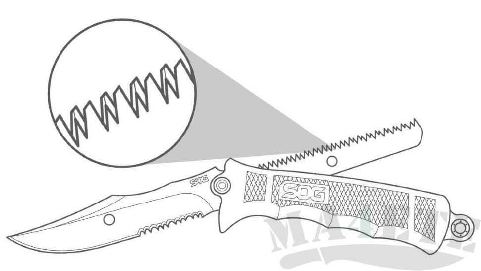 картинка Нож - пила SOG Fusion Revolver Hunter FX20 от магазина ma4ete