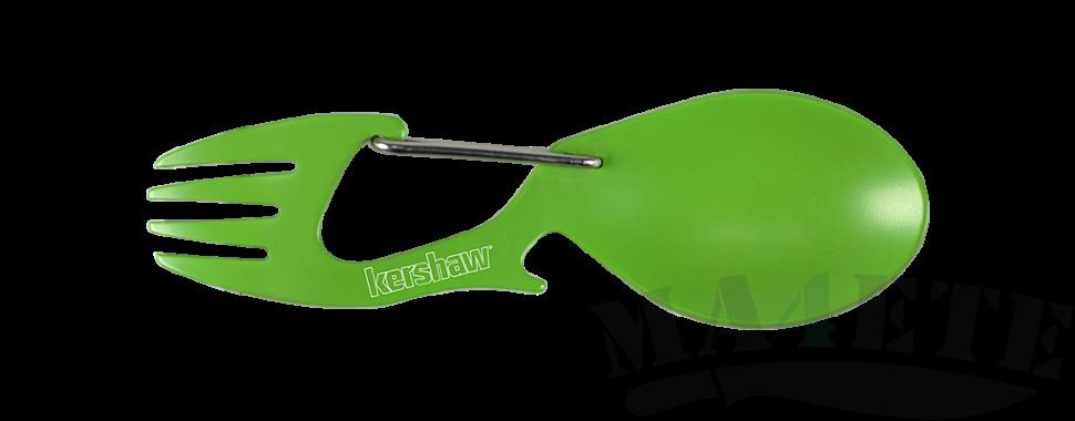 картинка Карабин ложка - вилка Kershaw Ration Green K1140GRN от магазина ma4ete