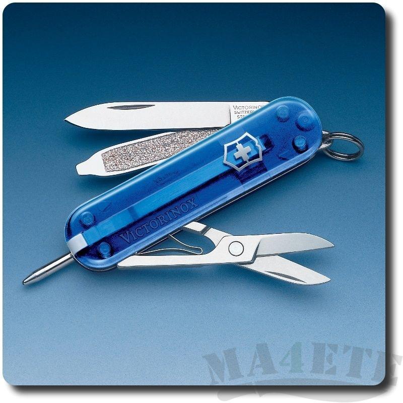 картинка Нож-брелок Victorinox Синий прозрачный 0.6225.T2 от магазина ma4ete
