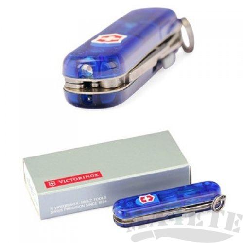 картинка Нож-брелок Victorinox Синий прозрачный с фонариком 0.6228.T2 от магазина ma4ete
