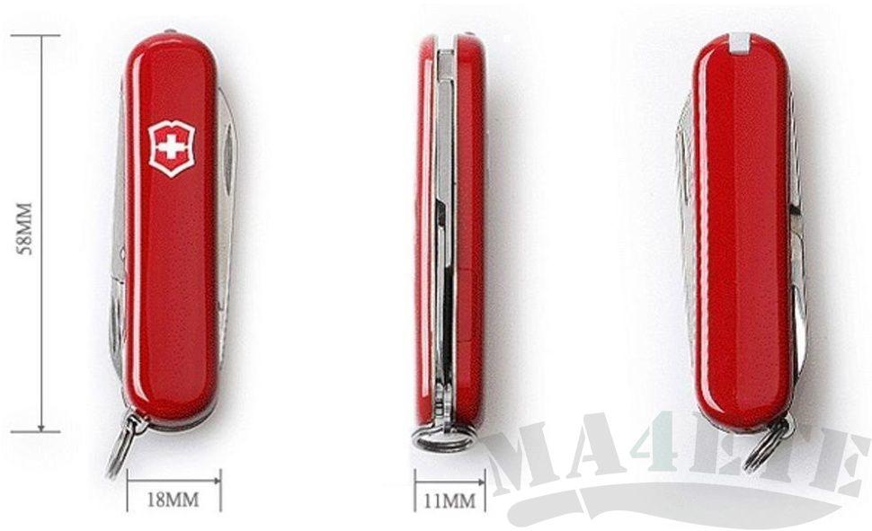 картинка Нож-брелок Victorinox Красный с фонариком 0.6228 от магазина ma4ete