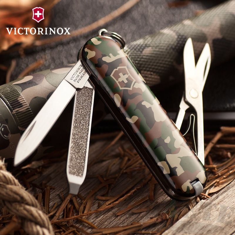 картинка Нож-брелок Victorinox Camouflage 0.6223.94 от магазина ma4ete