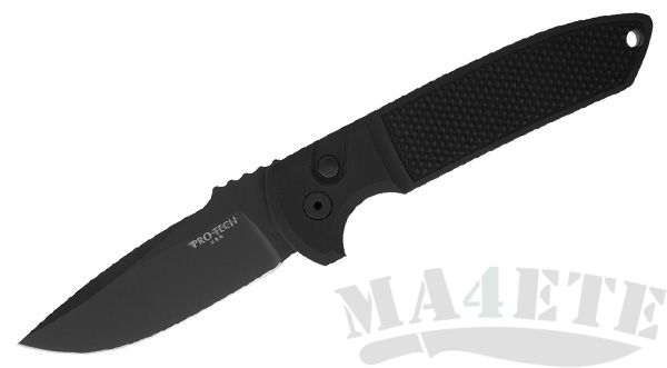 картинка Складной автоматический нож Pro-Tech Rockeye Black Blade Black Handle LG203 от магазина ma4ete