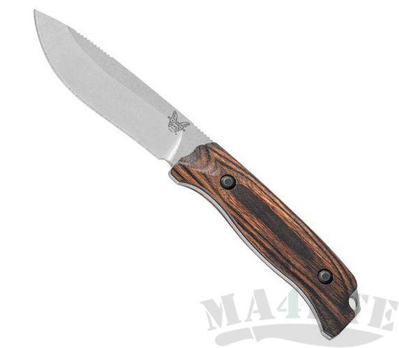 картинка Нож Benchmade Saddle Mountain Skinner Hunt Wood 15001-2 от магазина ma4ete