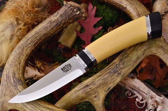картинка Нож Bark River Scandi Antique Ivory Black Paper sp. от магазина ma4ete
