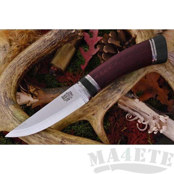 картинка Нож Bark River Scandi Maroon Linen Mic. Black Paper sp. от магазина ma4ete