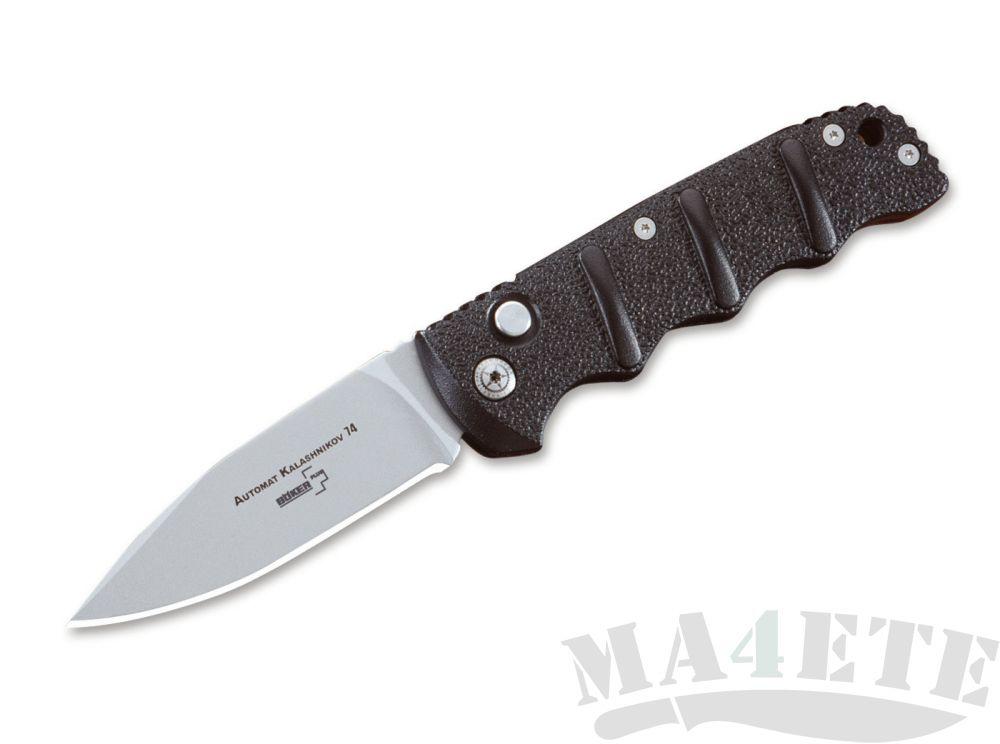 картинка Складной автоматический нож Boker Kalashnikov AKS-74 S30V Black 01KALS30 от магазина ma4ete