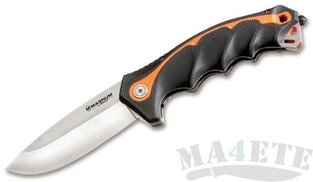 картинка Нож складной Magnum by Boker, Chainsaw Attendant Satin, Kraton Handle 9.0 см. BK01RY294 от магазина ma4ete