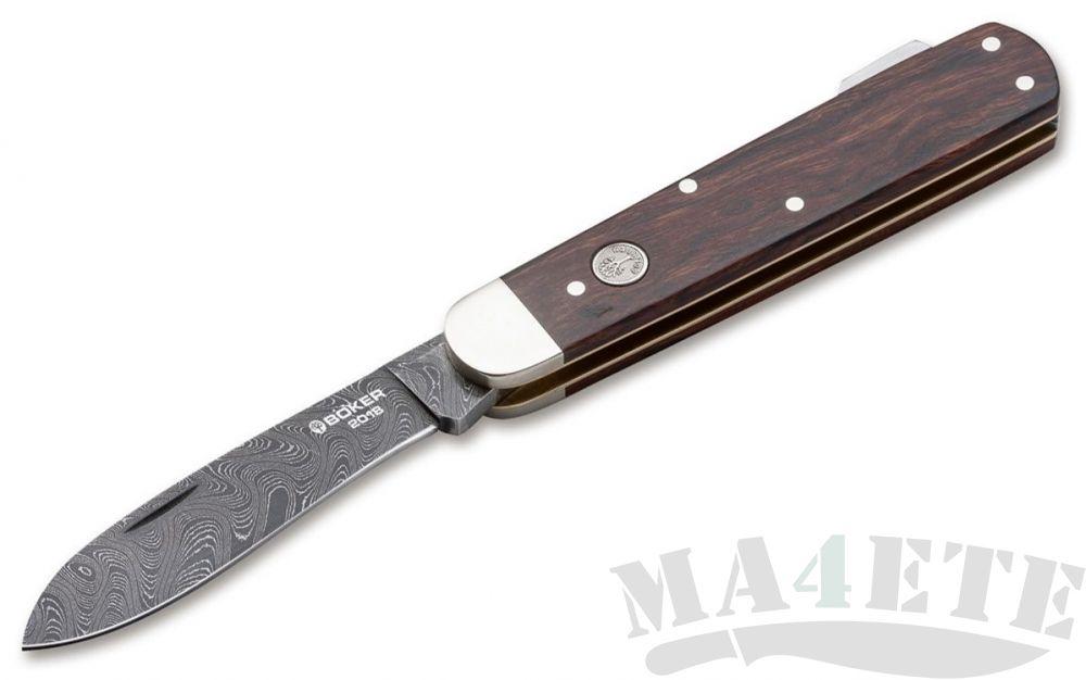 картинка Нож складной Boker 2018 Annual Damascus,Desert Ironwood Handle 8.4 см. 1132018DAM от магазина ma4ete