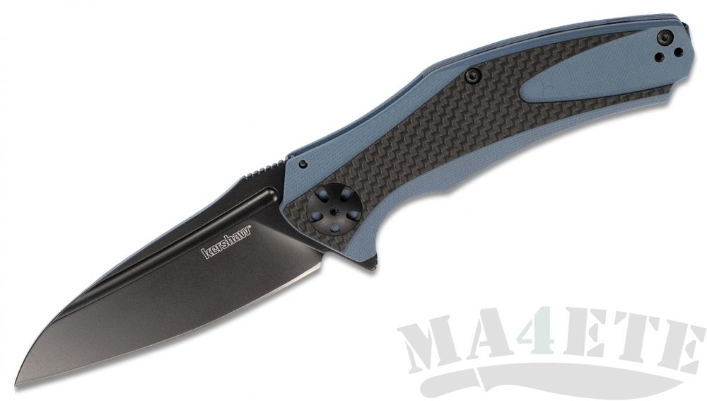 картинка Нож складной Kershaw Natrix XL Black 8Cr13MoV, Blue G10 Handle with Carbon Fiber K7008CFBLK, карбон от магазина ma4ete