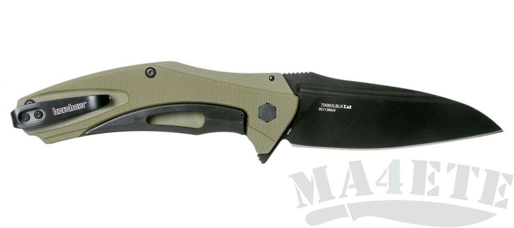 картинка Нож складной Kershaw Natrix XL 8Cr13MoV Black Blade, OD Green G-10 Handle 7008OLBLK, оливковая рукоять от магазина ma4ete