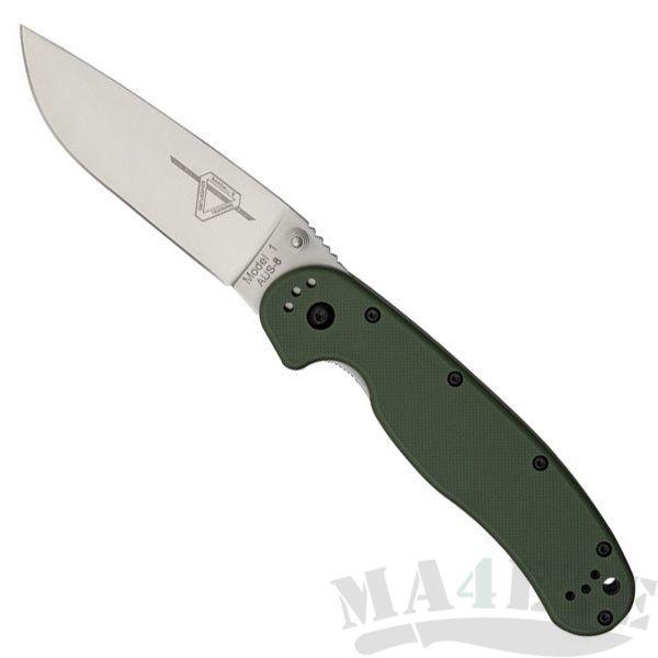 картинка Складной нож Ontario Rat 1 Aus-8 Tool Steel, Satin Blade, Olive Drab Handle ON8848OD от магазина ma4ete