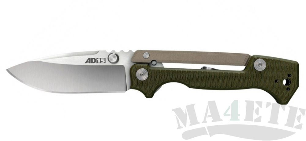 картинка Нож складной Cold Steel AD-15 Scorpion Lock by Andrew Demko CPM S35VN, OD Green G10 Handles, 9.2 см, 58SQ от магазина ma4ete