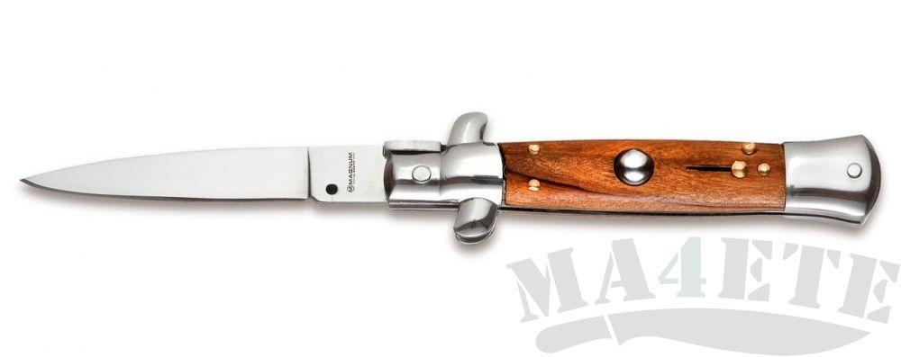 картинка Автоматический складной нож Boker Magnum Sicilian Needle Olive Wood BK01MB279 от магазина ma4ete