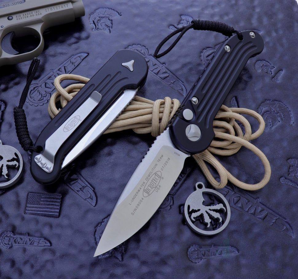 картинка Складной автоматический нож Microtech LUDT Black MT_135-4 от магазина ma4ete