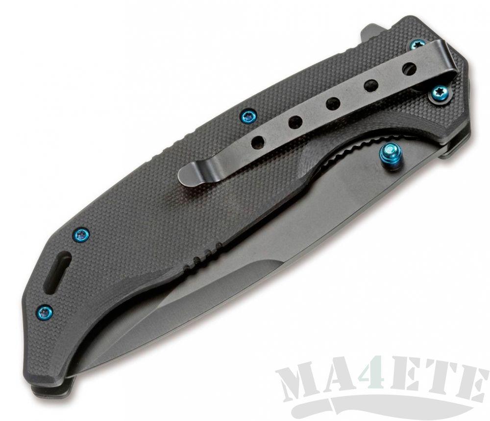 картинка Нож складной Boker Magnum Blue Night 440А, G-10 Handle BK01RY714 от магазина ma4ete