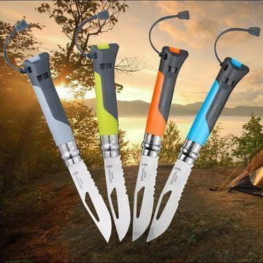 картинка Нож складной Opinel 08 Outdoor Green 8VRI от магазина ma4ete