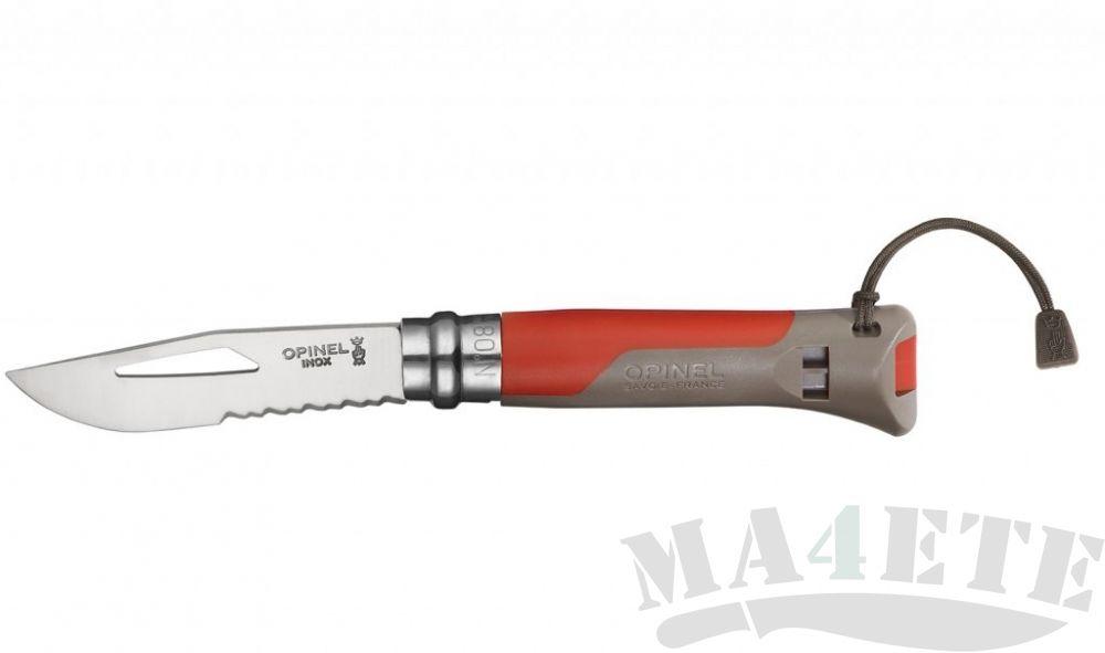 картинка Нож складной Opinel 08 Outdoor Red 8VRI, красный 8.5 см,001714 от магазина ma4ete