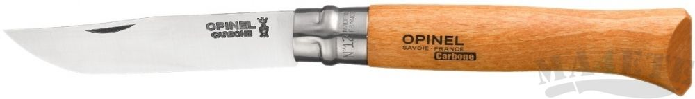 картинка Нож складной Opinel N°12 carbon steel 12VRN, бук 12.0 см,113120 от магазина ma4ete