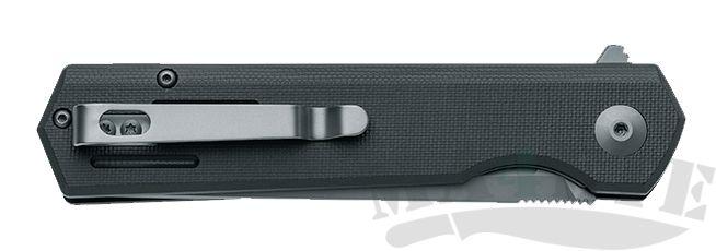картинка Нож складной Fox BlackFox Revolver Titanium Nitride Coated 440C Black G10 Handle 9см FBF-740TI от магазина ma4ete