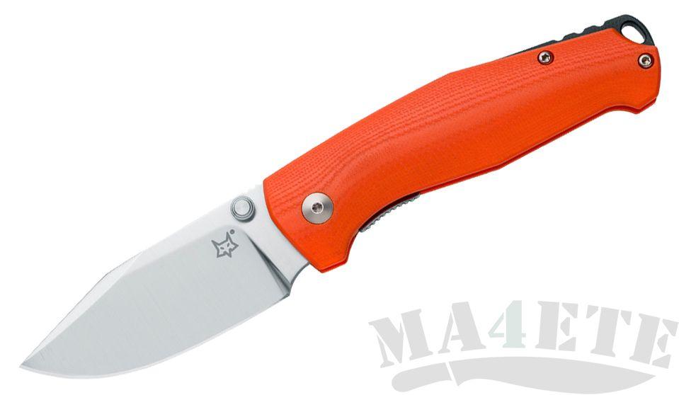 картинка Нож складной FOX TUR Design By Jesper Voxnaes N690Co 75мм Orange G-10 Handle FX-523OR от магазина ma4ete