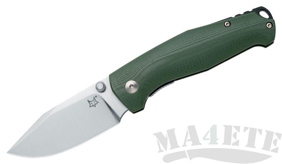 картинка Нож складной FOX TUR Design By Jesper Voxnaes N690Co OD Green G-10 Handle FX-523OD от магазина ma4ete