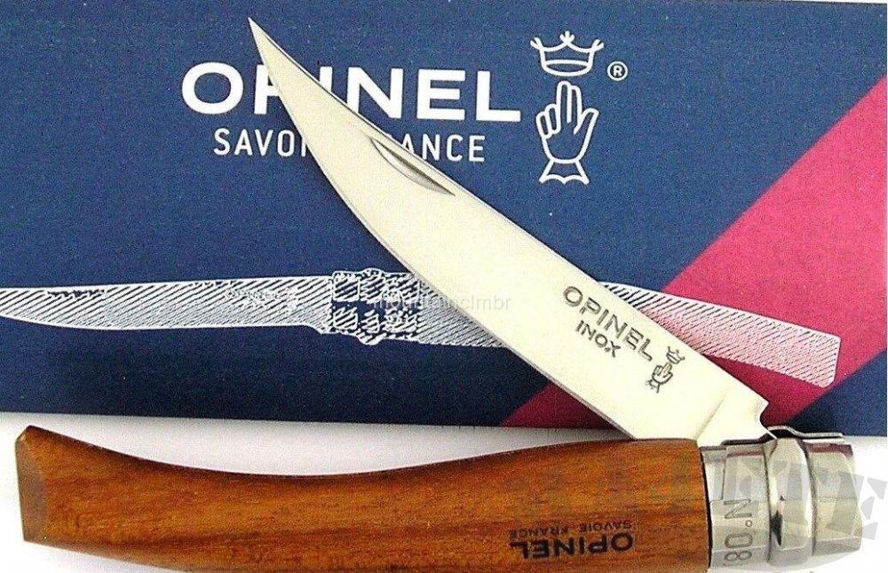 картинка Нож филейный складной Opinel Effile N°08 Inox Bubinga handle 8VRI от магазина ma4ete