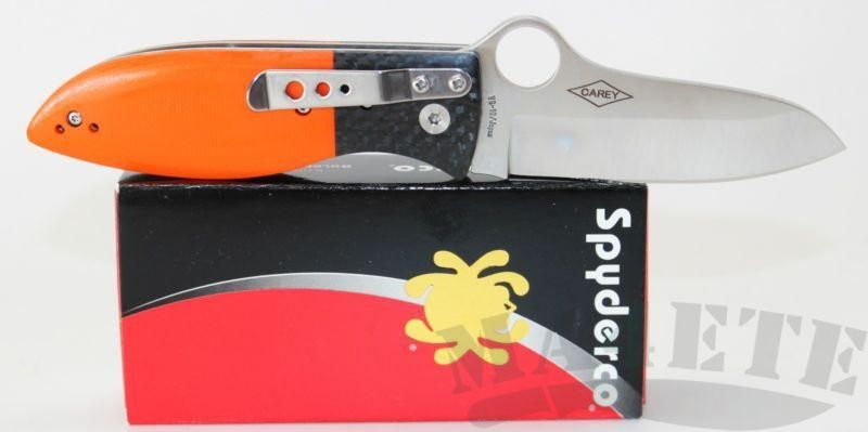 картинка Нож складной Spyderco Firefly by Peter Carey VG-10 Steel Orange G10/Carbon Fiber Handle C184GPOR от магазина ma4ete