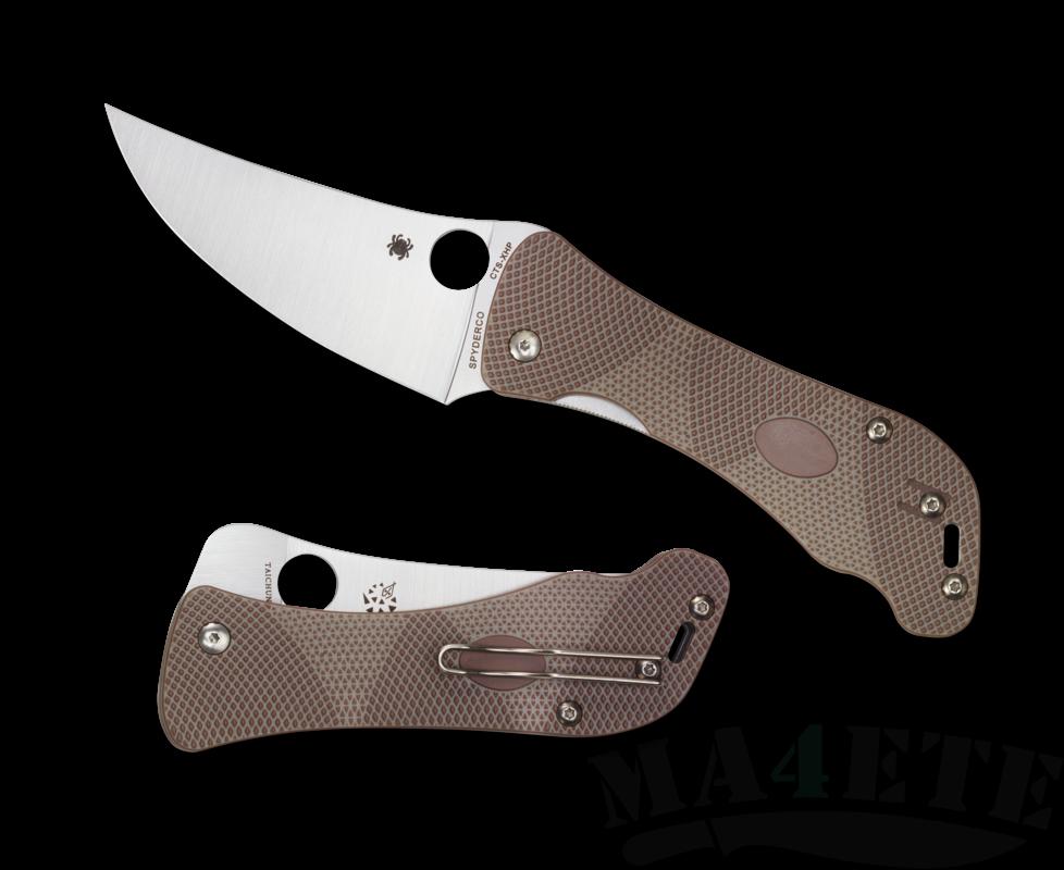 картинка Нож складной Spyderco Hundred Pacer CPM S30V Blade, Brown/Tan G-10 Handle 225GP от магазина ma4ete