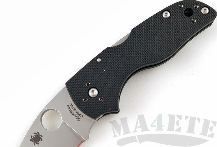 картинка Нож складной Spyderco Lil' Native Backlock S30V Plain Blade Black G-10 Handle C230MBGP от магазина ma4ete