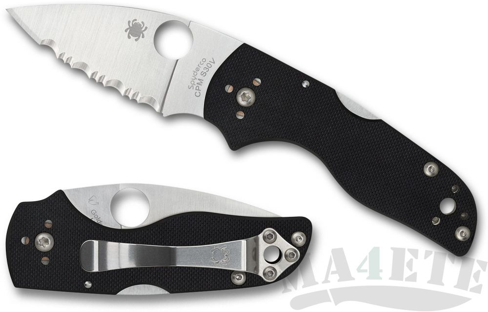 картинка Нож складной Spyderco Lil' Native Serrated CPM S30V Blade, Black G-10 Handle 230MBGS от магазина ma4ete