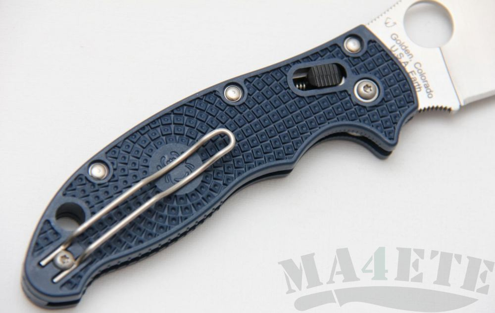 картинка Нож складной Spyderco Manix 2 Lightweight Blue FRN Handle C101PDBL2 от магазина ma4ete