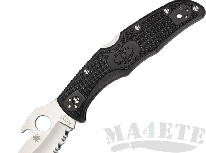 картинка Нож складной Spyderco Matriarch 2 Emerson Wave Opening Black FRN Handle C12SBK2W от магазина ma4ete